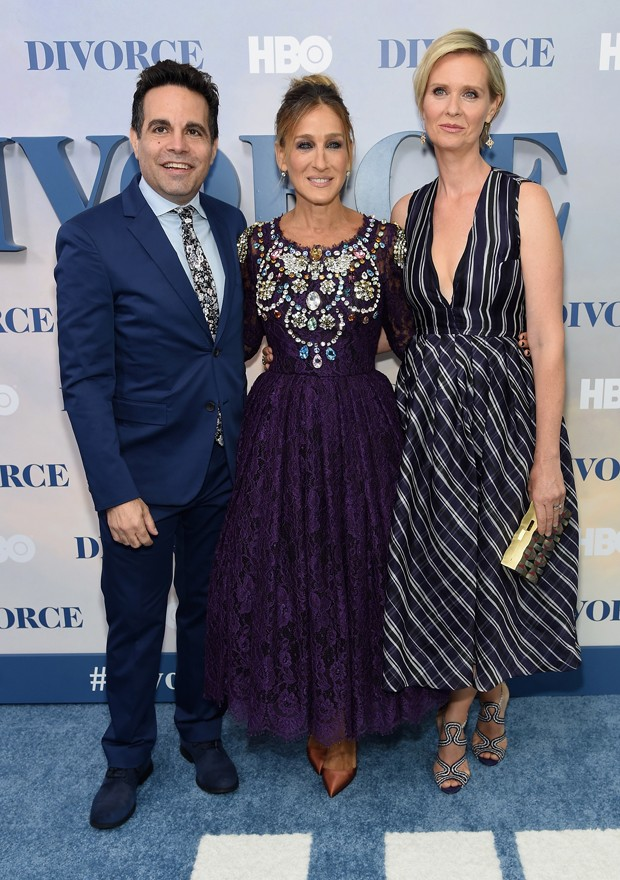 Mario Cantone, Sarah Jessica Parker e Cynthia Nixon