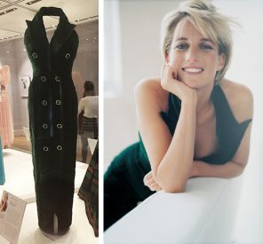 Vestido usado pela princesa Diana em fotos de Mario Testino para a Vanity Fair, em 1997