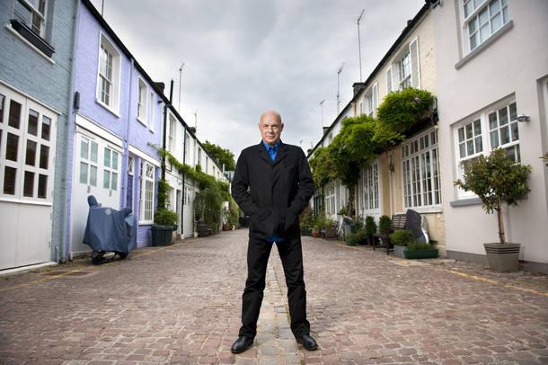 Brian Eno, a musician and producer, at his studio.