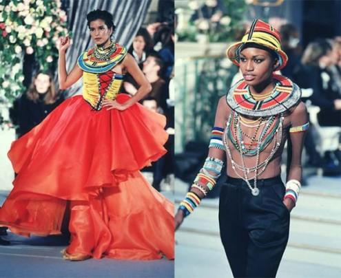 A primavera-verão 1997 da Dior também teve referências na tribo!