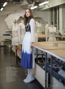 Margarita Kapustina in Master Class photographed by Benjamin Kanarek for ELLE