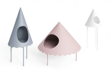 Mesa lateral Tent da Cappellini. Foto: Akiro Yoshida