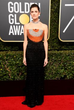 BEVERLY HILLS, CA - JANUARY 07: Actor Allison Williams attends The 75th Annual Golden Globe Awards at The Beverly Hilton Hotel on January 7, 2018 in Beverly Hills, California. (Photo by Frazer Harrison/Getty Images)