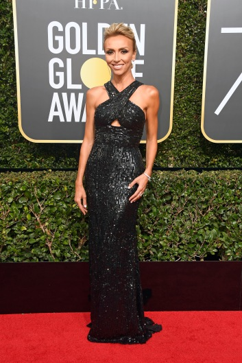 BEVERLY HILLS, CA - JANUARY 07: TV personality Giuliana Rancic attends The 75th Annual Golden Globe Awards at The Beverly Hilton Hotel on January 7, 2018 in Beverly Hills, California. (Photo by Frazer Harrison/Getty Images)