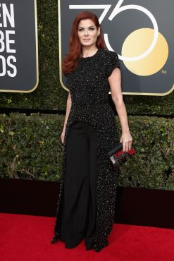 BEVERLY HILLS, CA - JANUARY 07: Debra Messing attends The 75th Annual Golden Globe Awards at The Beverly Hilton Hotel on January 7, 2018 in Beverly Hills, California. (Photo by Frederick M. Brown/Getty Images)