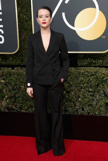 BEVERLY HILLS, CA - JANUARY 07: Claire Foy attends The 75th Annual Golden Globe Awards at The Beverly Hilton Hotel on January 7, 2018 in Beverly Hills, California. (Photo by Frederick M. Brown/Getty Images)