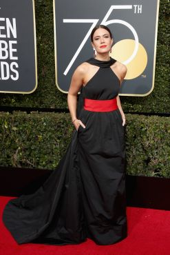 BEVERLY HILLS, CA - JANUARY 07: Mandy Moore attends The 75th Annual Golden Globe Awards at The Beverly Hilton Hotel on January 7, 2018 in Beverly Hills, California. (Photo by Frederick M. Brown/Getty Images)