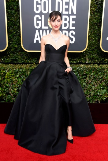 BEVERLY HILLS, CA - JANUARY 07: Allison Brie attends The 75th Annual Golden Globe Awards at The Beverly Hilton Hotel on January 7, 2018 in Beverly Hills, California. (Photo by Frazer Harrison/Getty Images)