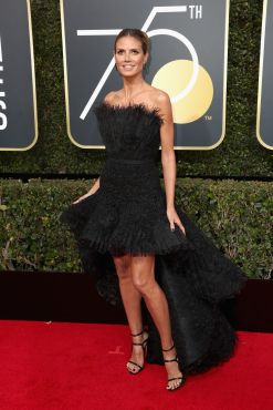 BEVERLY HILLS, CA - JANUARY 07: Heidi Klum attends The 75th Annual Golden Globe Awards at The Beverly Hilton Hotel on January 7, 2018 in Beverly Hills, California. (Photo by Frederick M. Brown/Getty Images)