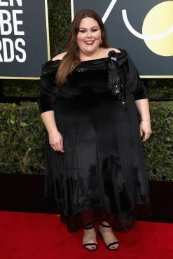 BEVERLY HILLS, CA - JANUARY 07: Chrissy Metz attends The 75th Annual Golden Globe Awards at The Beverly Hilton Hotel on January 7, 2018 in Beverly Hills, California. (Photo by Frederick M. Brown/Getty Images)