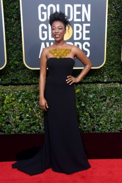 BEVERLY HILLS, CA - JANUARY 07: Samira Wiley attends The 75th Annual Golden Globe Awards at The Beverly Hilton Hotel on January 7, 2018 in Beverly Hills, California. (Photo by Frazer Harrison/Getty Images)