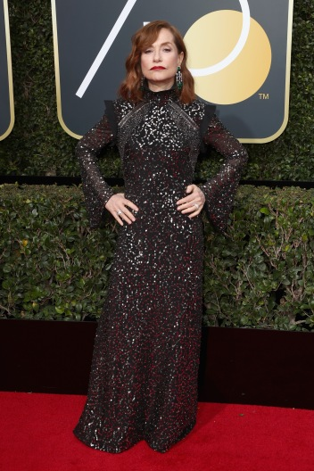 BEVERLY HILLS, CA - JANUARY 07: Isabelle Huppert attends The 75th Annual Golden Globe Awards at The Beverly Hilton Hotel on January 7, 2018 in Beverly Hills, California. (Photo by Frederick M. Brown/Getty Images)