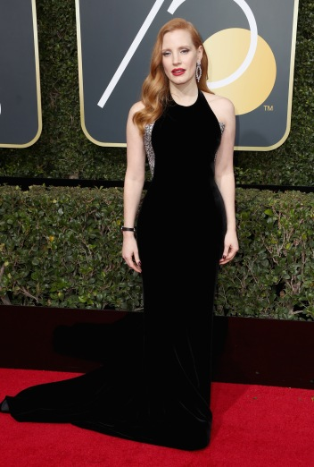 BEVERLY HILLS, CA - JANUARY 07: Jessica Chastain attends The 75th Annual Golden Globe Awards at The Beverly Hilton Hotel on January 7, 2018 in Beverly Hills, California. (Photo by Frederick M. Brown/Getty Images)