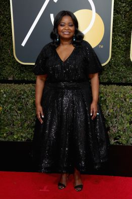 BEVERLY HILLS, CA - JANUARY 07: Octavia Spencer attends The 75th Annual Golden Globe Awards at The Beverly Hilton Hotel on January 7, 2018 in Beverly Hills, California. (Photo by Frederick M. Brown/Getty Images)