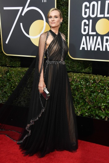 BEVERLY HILLS, CA - JANUARY 07: Actor Diane Kruger attends The 75th Annual Golden Globe Awards at The Beverly Hilton Hotel on January 7, 2018 in Beverly Hills, California. (Photo by Frazer Harrison/Getty Images)