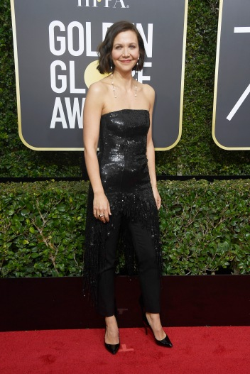 BEVERLY HILLS, CA - JANUARY 07: Actor Maggie Gyllenhaal attends The 75th Annual Golden Globe Awards at The Beverly Hilton Hotel on January 7, 2018 in Beverly Hills, California. (Photo by Frazer Harrison/Getty Images)