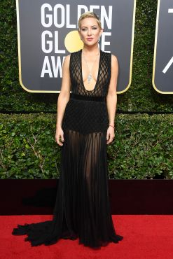 BEVERLY HILLS, CA - JANUARY 07: Kate Hudson attends The 75th Annual Golden Globe Awards at The Beverly Hilton Hotel on January 7, 2018 in Beverly Hills, California. (Photo by Frazer Harrison/Getty Images)