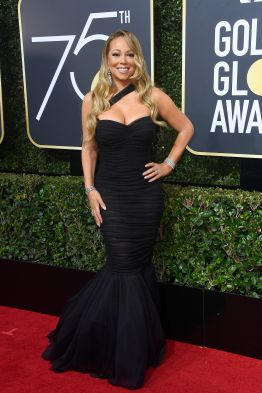 BEVERLY HILLS, CA - JANUARY 07: Mariah Carey attends The 75th Annual Golden Globe Awards at The Beverly Hilton Hotel on January 7, 2018 in Beverly Hills, California. (Photo by Frazer Harrison/Getty Images)