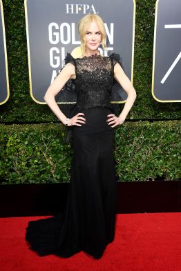 BEVERLY HILLS, CA - JANUARY 07: Nicole Kidman attends The 75th Annual Golden Globe Awards at The Beverly Hilton Hotel on January 7, 2018 in Beverly Hills, California. (Photo by Frazer Harrison/Getty Images)