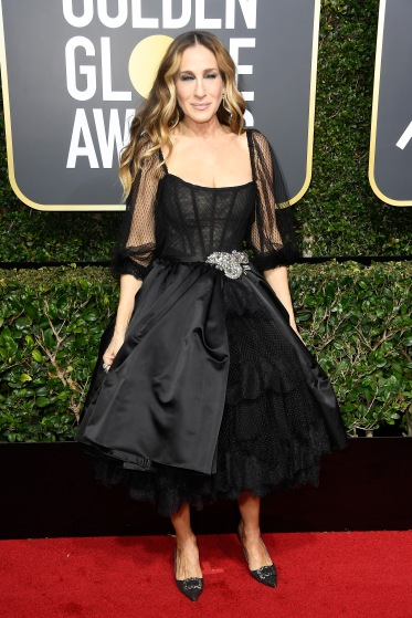 BEVERLY HILLS, CA - JANUARY 07: Actor Sarah Jessica Parker attends The 75th Annual Golden Globe Awards at The Beverly Hilton Hotel on January 7, 2018 in Beverly Hills, California. (Photo by Frazer Harrison/Getty Images)
