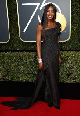 BEVERLY HILLS, CA - JANUARY 07: Model Naomi Campbell attends The 75th Annual Golden Globe Awards at The Beverly Hilton Hotel on January 7, 2018 in Beverly Hills, California. (Photo by Frederick M. Brown/Getty Images)