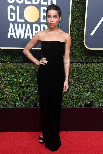 BEVERLY HILLS, CA - JANUARY 07: Actor Zoe Kravitz attends The 75th Annual Golden Globe Awards at The Beverly Hilton Hotel on January 7, 2018 in Beverly Hills, California. (Photo by Frazer Harrison/Getty Images)