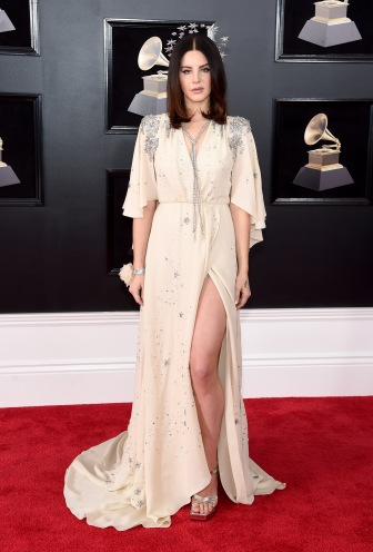 NEW YORK, NY - JANUARY 28: Recording artist Lana Del Rey attends the 60th Annual GRAMMY Awards at Madison Square Garden on January 28, 2018 in New York City. (Photo by Jamie McCarthy/Getty Images)