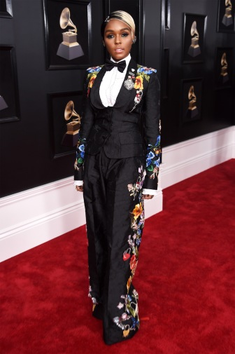 NEW YORK, NY - JANUARY 28: Recording artist Janelle Monae attends the 60th Annual GRAMMY Awards at Madison Square Garden on January 28, 2018 in New York City. (Photo by Dimitrios Kambouris/Getty Images for NARAS)