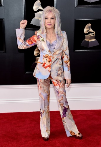 NEW YORK, NY - JANUARY 28: Recording artist Cyndi Lauper attends the 60th Annual GRAMMY Awards at Madison Square Garden on January 28, 2018 in New York City. (Photo by Jamie McCarthy/Getty Images)