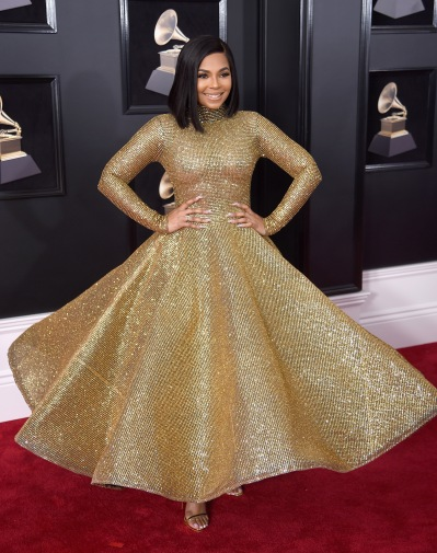 NEW YORK, NY - JANUARY 28: Recording artist Ashanti attends the 60th Annual GRAMMY Awards at Madison Square Garden on January 28, 2018 in New York City. (Photo by Dimitrios Kambouris/Getty Images for NARAS)