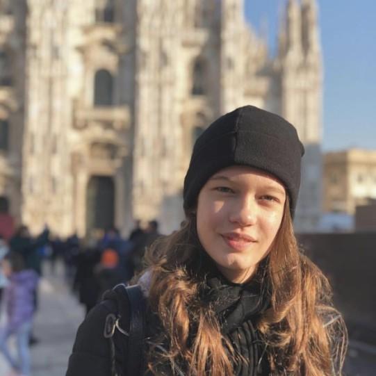 Lavinia de Aquino em Milão (Foto: Reprodução/Instagram)