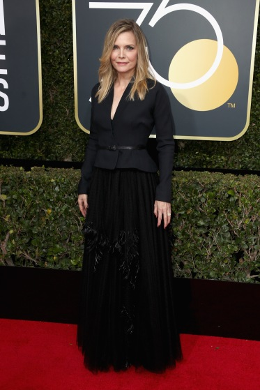 BEVERLY HILLS, CA - JANUARY 07: Michelle Pfeiffer attends The 75th Annual Golden Globe Awards at The Beverly Hilton Hotel on January 7, 2018 in Beverly Hills, California. (Photo by Frederick M. Brown/Getty Images)