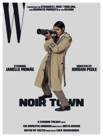 """Já Jordan Peele, que dirigiu """"Corra!"""", quis fazer da cantora Janelle Monáe uma versão feminina e negra de um protagonista de Hitchcock"""