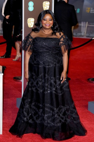 LONDON, ENGLAND - FEBRUARY 18: Octavia Spencer attends the EE British Academy Film Awards (BAFTA) held at Royal Albert Hall on February 18, 2018 in London, England. (Photo by Jeff Spicer/Jeff Spicer/Getty Images)