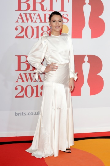 LONDON, ENGLAND - FEBRUARY 21: *** EDITORIAL USE ONLY IN RELATION TO THE BRIT AWARDS 2018*** Jessie Ware attends The BRIT Awards 2018 held at The O2 Arena on February 21, 2018 in London, England. (Photo by John Phillips/Getty Images)