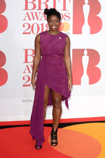 LONDON, ENGLAND - FEBRUARY 21: *** EDITORIAL USE ONLY IN RELATION TO THE BRIT AWARDS 2018*** Clara Amfo attends The BRIT Awards 2018 held at The O2 Arena on February 21, 2018 in London, England. (Photo by John Phillips/Getty Images)