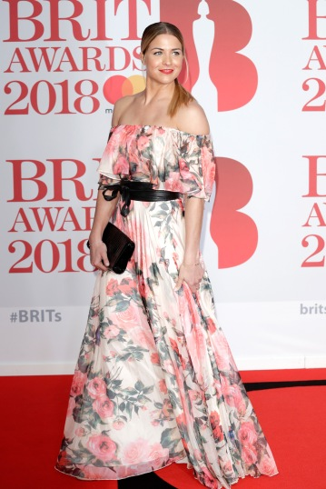LONDON, ENGLAND - FEBRUARY 21: *** EDITORIAL USE ONLY IN RELATION TO THE BRIT AWARDS 2018*** Gemma Atkinson attends The BRIT Awards 2018 held at The O2 Arena on February 21, 2018 in London, England. (Photo by John Phillips/Getty Images)