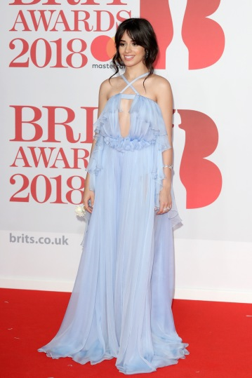 LONDON, ENGLAND - FEBRUARY 21: *** EDITORIAL USE ONLY IN RELATION TO THE BRIT AWARDS 2018*** Camila Cabello attends The BRIT Awards 2018 held at The O2 Arena on February 21, 2018 in London, England. (Photo by John Phillips/Getty Images)