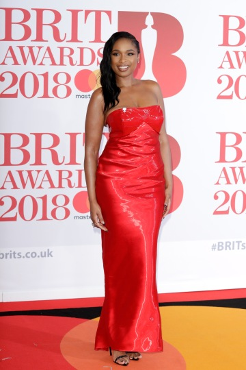 LONDON, ENGLAND - FEBRUARY 21: *** EDITORIAL USE ONLY IN RELATION TO THE BRIT AWARDS 2018*** Jennifer Hudson attends The BRIT Awards 2018 held at The O2 Arena on February 21, 2018 in London, England. (Photo by John Phillips/Getty Images)