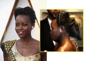 No Oscar, a musa escolheu homenagear um estilo de cabelo ancestral da região de Ruanda, o Amasunzu