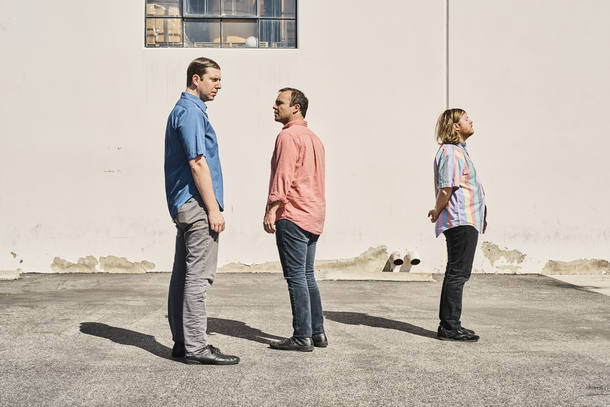 "Gerrit Welmers, Samuel T. Herring and William Cashion of the band Future Islands are readying the release of their fifth album, ""The Far Field."""