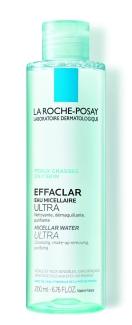 Água Micelar Indicada para peles oleosas, contém zinco na composição. Effaclar Solução Micelar Ultra , La Roche-Posay, R$34,90 (100 mL)