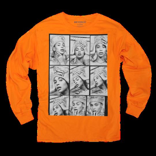 Camiseta manga longa, US$45 (Beyoncé.com/Divulgação)