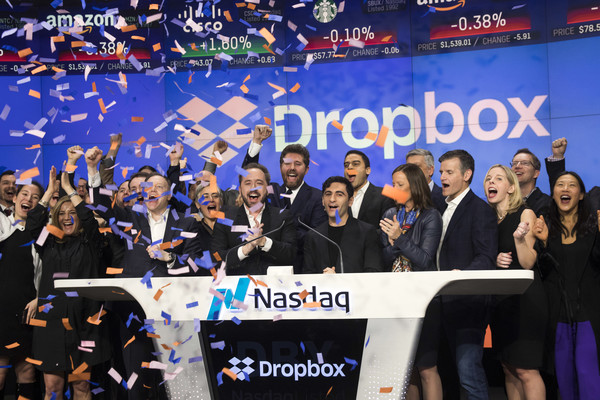 Dropbox+Debuts+Nasdaq+Exchange+rZGXInTESktl