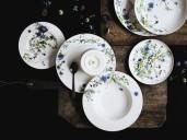 Peças da coleção Brillance Fleurs des Alpes, da Rosenthal. (Divulgação/Rosenthal)
