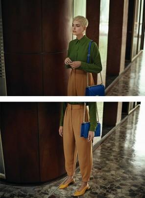 Camisa, R$ 1.082, calça, R$ 1.398, e sapatos, R$ 1.342, Cris Barros. Bolsa Dior, R$ 16.000. Brincos Paola Villa à venda na Pinga, R$ 1.380 (Foto: Gustavo Zylbersztajn (SD MGMT))