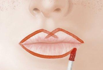 3. Contorno Continue o traço da ponta do X para cada extremidade da boca. Embaixo, desenhe uma linha contínua.