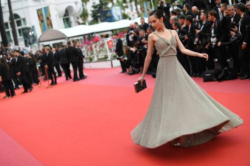 Model Kiko Mizuhara poses for photographers upon arrival at the premiere of the film 'Yomeddine' at the 71st international film festival, Cannes, southern France, Wednesday, May 9, 2018. (Photo by Arthur Mola/Invision/AP)