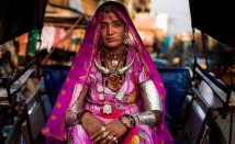 A woman on her way to the market in Jodhpur, India.