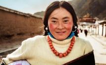 A Tibetan Woman in Xiahe, China.